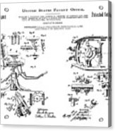 Dentists Chair Patent 1892 Acrylic Print