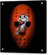 Denver Broncos War Mask 2 Acrylic Print