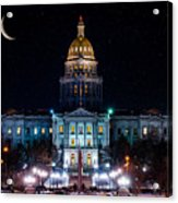 Denver Capital Nights Acrylic Print