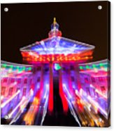 Denver City And County Building Lights Acrylic Print
