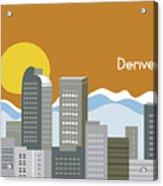 Denver Colorado Horizontal Skyline Print Acrylic Print