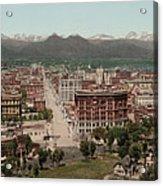 Denver, Colorado, Photochrom By William Acrylic Print