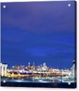Denver Night Skyline Acrylic Print