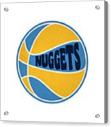 Denver Nuggets Retro Shirt Acrylic Print