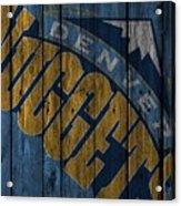 Denver Nuggets Wood Fence Acrylic Print