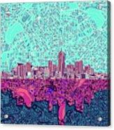 Denver Skyline Abstract 7 Acrylic Print