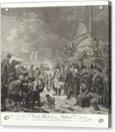 Departure Of Prince William V, 1795, Joannes Bemme, After Dirk Langendijk, After Christoffel Meijer, Acrylic Print