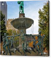 Depew Memorial Fountain Acrylic Print