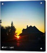 Depot At Sunset Acrylic Print