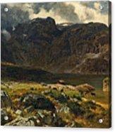 Der Hintere Murgsee. St. Galler Alpen. 1878 Acrylic Print