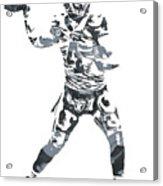 Derek Carr Oakland Raiders Pixel Art 11 Acrylic Print