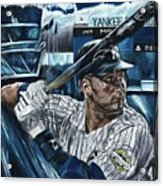 Derek Jeter Acrylic Print by David Courson