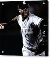 Derek Jeter Acrylic Print by Paul Ward