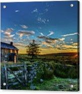 Derelict Cottage Nun's Cross, Dartmoor, Uk. Acrylic Print