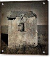 Derelict Hut  Textured Acrylic Print by Bernard Jaubert