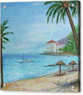 Descanso Beach, Catalina Acrylic Print