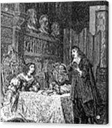 Descartes Teaching Queen Christina, 1649 Acrylic Print