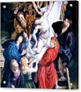 Descent From The Cross After Peter Paul Rubens Acrylic Print