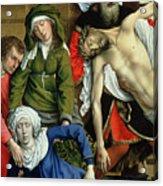 Descent From The Cross Acrylic Print by Rogier van der Weyden