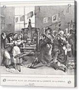 Descente Dans Les Ateliers De La Libert? De La Presse Acrylic Print