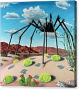 Desert Bug Acrylic Print by Snake Jagger