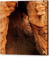 Desert Cavern Acrylic Print