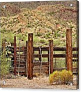 Desert Corral Acrylic Print