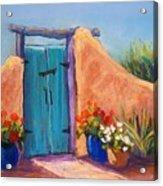 Desert Gate Acrylic Print by Candy Mayer