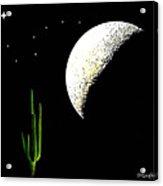 Desert Moon Acrylic Print
