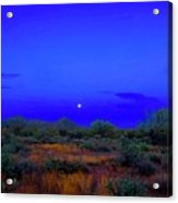 Desert Moon Scape Acrylic Print