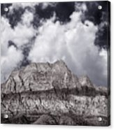 Desert Mountain Showing Iron Oxide Stripe Acrylic Print