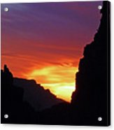 Desert Mountain Sunset Acrylic Print