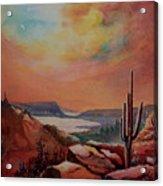 Desert Oasis Acrylic Print