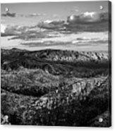 Desert Overlook #2 Bw Acrylic Print