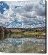 Desert River Cloud Reflection Acrylic Print