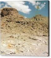 Desert Sand And Rock Acrylic Print