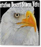 Desert Storm Eagle Acrylic Print