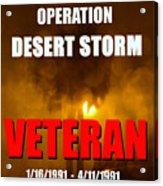 Desert Storm Vet Phone Case Work Acrylic Print