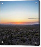 Desert Sunset #5 Acrylic Print