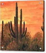 Desert Sunset I Acrylic Print