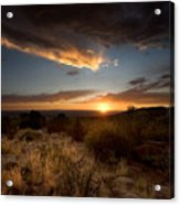 Desert Sunset Acrylic Print by Matt Tilghman