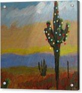 Desert Tree Card Acrylic Print
