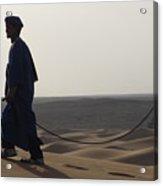 Desert Trek, Sahara Desert Acrylic Print