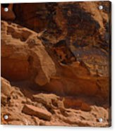 Desert Varnish Petroglyphs Valley Of Fire Acrylic Print