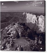 Desert View At Grand Canyon Arizona Bw Acrylic Print