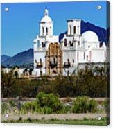 Desert View - San Xavier Mission - Tucson Arizona Acrylic Print