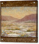 Desert Winter Acrylic Print