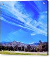 Desert Winter Sky Acrylic Print