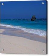 Deserted Beach In Bermuda Acrylic Print