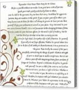 Desiderata Daisy Vines Acrylic Print